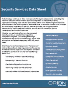 IT Security Services Data Sheet